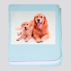 Golden retriever buddies baby blanket